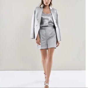 Reiss Metallic Tailored Solene High Waist Shorts